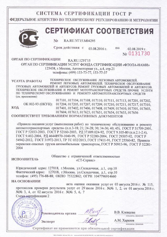 Сертифицированный сервис Тойота